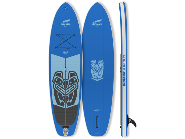Indiana SUP 10'6 Family Pack Paddle Gonflable avec 3 pièces Fibre/Composite Paddle, blue